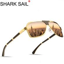 SHARK SAIL Man Polarized UV400 Sunglasses Light Ray Anti-Reflective High Quality Men Female Frame Glasses Optical Drive Okulary цены