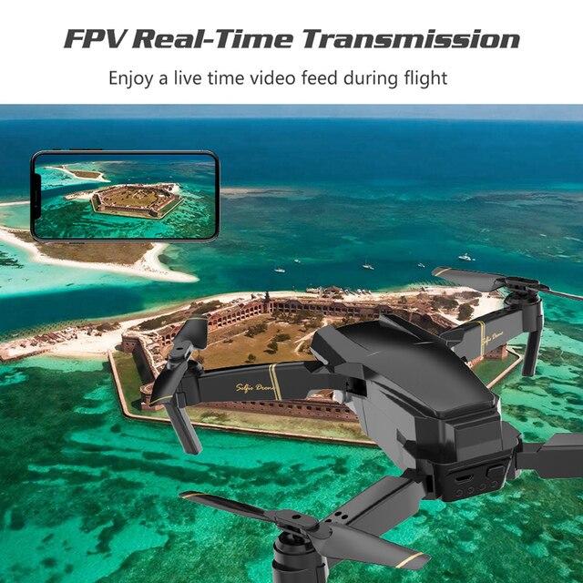 Selfie Drone Profissional Camera Quadrocopter FPV Dron RC Helicopter Mini Drone X Pro Drones with Camera HD VS GD89 XS809HW E58 5