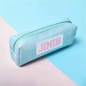 KPOP JUNGKOOK J-HOPE JIN JIMIN RM SUGA V Rap Monster имя футляр для карандашей милый кошелек студенческий милый маленький новые канцтовары сумка
