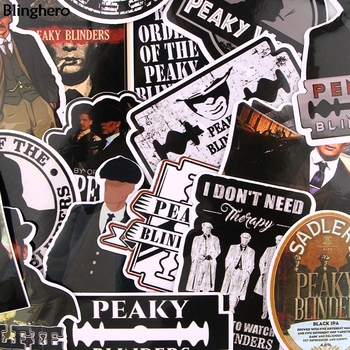 Blinghero Peaky Blinders Stickers 18Pcs/set Cool Scrapbooking Stickers Luggage Laptop Car Stickers Photo Decals Gift BH0460 1000 cool stickers