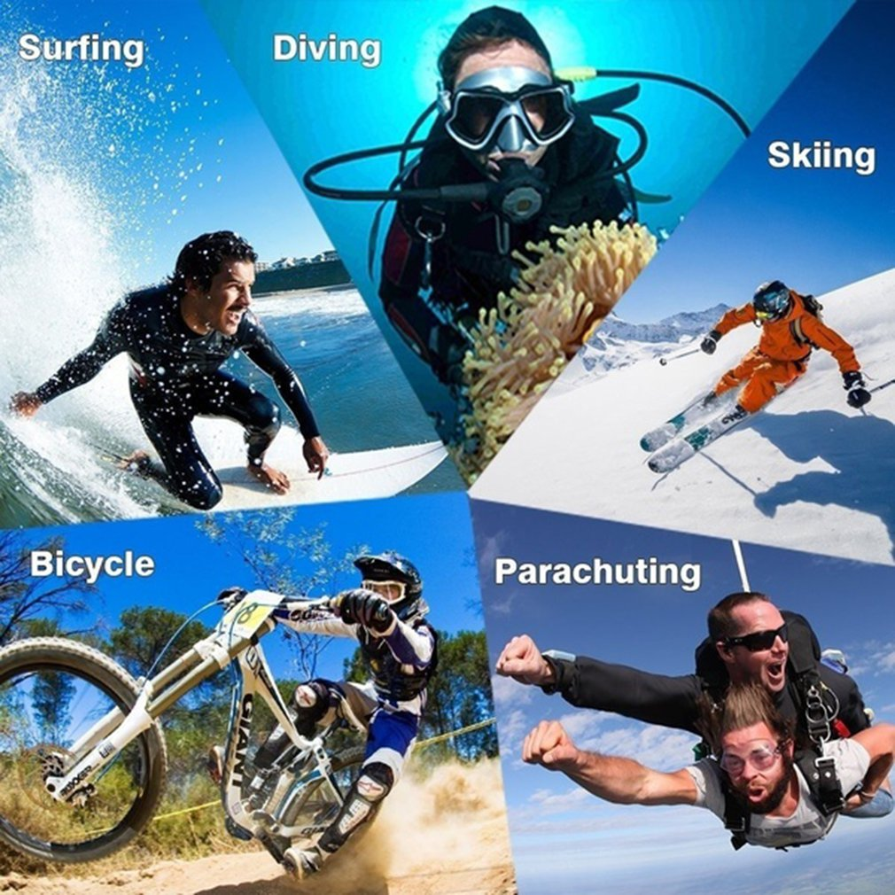 Pro Cam Sport Action Con Telecomando Camera 4k Videocamera Wifi Ultra Hd 16mp DVR Sports Outdoor Diving Bicycle Camcorder