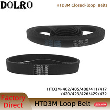 Arc HTD 3M Timing belt C=402 405 408 411 417 420 423 426 429 432 width 6/9/10/12/15/20mm Rubbe Closed Loop Synchronous pitch 3mm