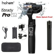 Hohem iSteady Pro 2, impermeable, a prueba de salpicaduras, de tres ejes, estabilizador de cardán de mano para GoproOsmo Action, cámara de acción deportiva SJCAM