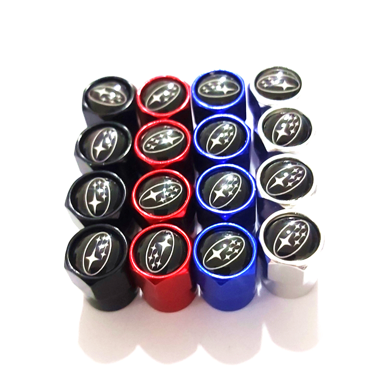 Car Sport Badge Emblem Stickers Decal Wheel Tire Valve Cap Tyre Dust Cap For Subaru Forest Human Lion XV Impreza WRX Car Styling