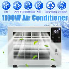 1100W Desktop air conditioner Cold Heat dual use 220V/AC 24-hour timer With remote control LED control panel+1X Exhaust Hose(China)