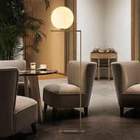 Nowoczesne podłogi stojący światło z złoty klosz szklany E27 lampa podłogowa dla salon sypialnia