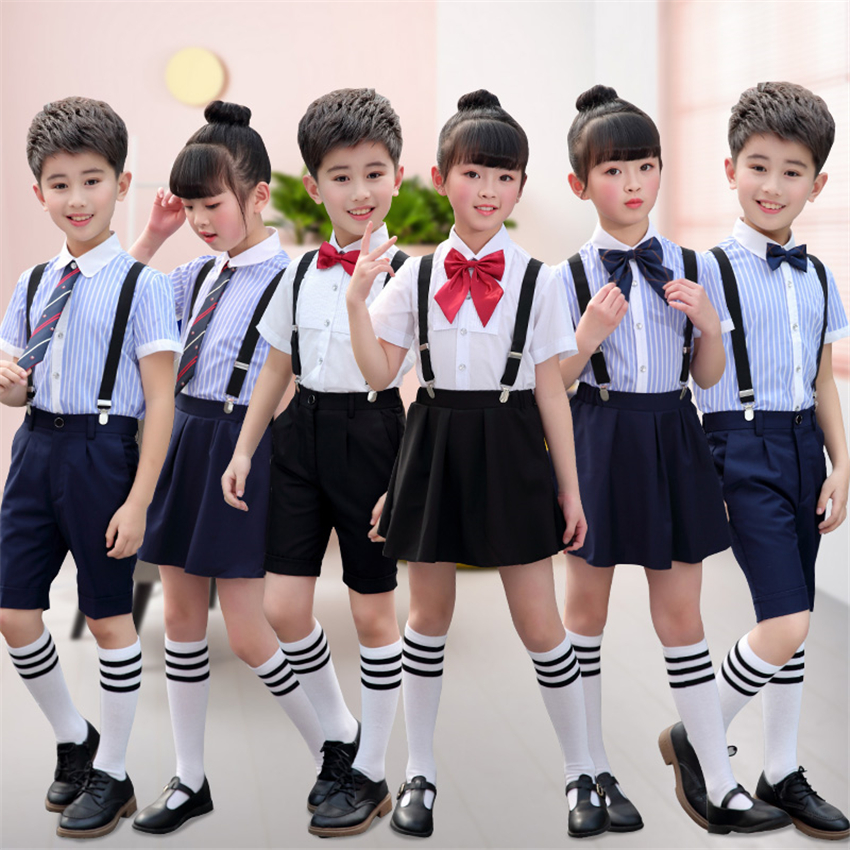 17Style Children Japanese Fashion School Uniform For Girls Summer Choir Host Rompers Stage Performance Kids Clothing 100-160CM