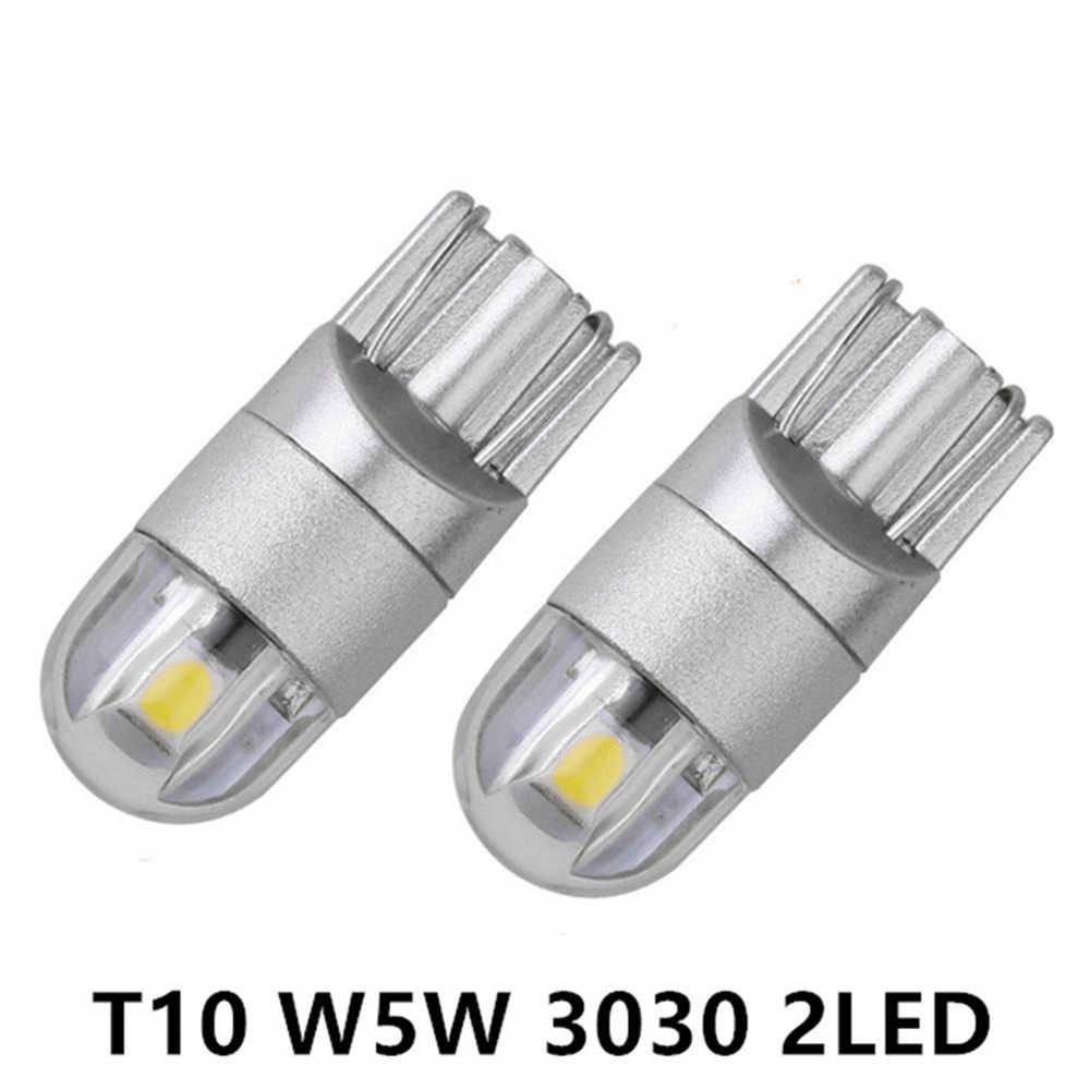 Yüksek Güç T10 3030 2SMD Ultra parlak LED Araba genişlik lamba Araç Plaka/Okuma/Dönüş sinyal ışığı Ampul Araba Aksesuarları