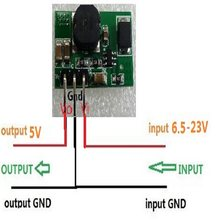CE018 Very Small 1.4Mhz 1.2A DC DC Converter Step Down DC 6.5V 9V 12V 15V 18V 20V to 5V Buck Module for LED Lighting