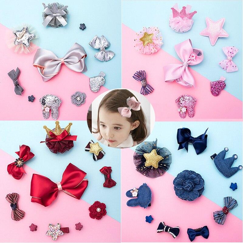 Cute Kids Girls Bow Hair Clips Bowknot Hairpin Headwear Princess Headdress