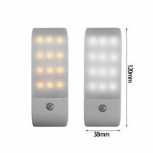 Image 5 - 12 LED PIR อินฟราเรด Stick ON ตู้เสื้อผ้า Night Light USB Motion Detector เซ็นเซอร์เหนี่ยวนำตู้เสื้อผ้า Corridor โคมไฟ 5V