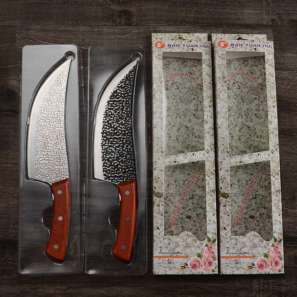 XYj סרבי הקצב סכין פלדת פחמן גבוה 8 אינץ חיתוך חיתוך סכין שף מנגל בר בית ומסעדה כלי עם אריזת מתנה