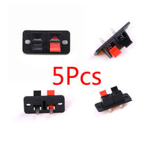 5Pcs 2 Posisi Konektor Terminal Push Di Jack Beban Pegas 2 Cara 2 Pin Musim Semi Push Rilis Home Audio SPEAKER Terminal(China)
