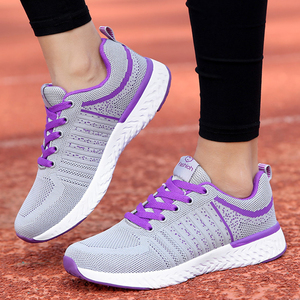 Image 5 - Fashion Tennis Shoes Woman Breathable Mesh Black Zapatos Mujer Comfort Lace up Soft Female Outdoor Light Gym Sport Sneaker Flats