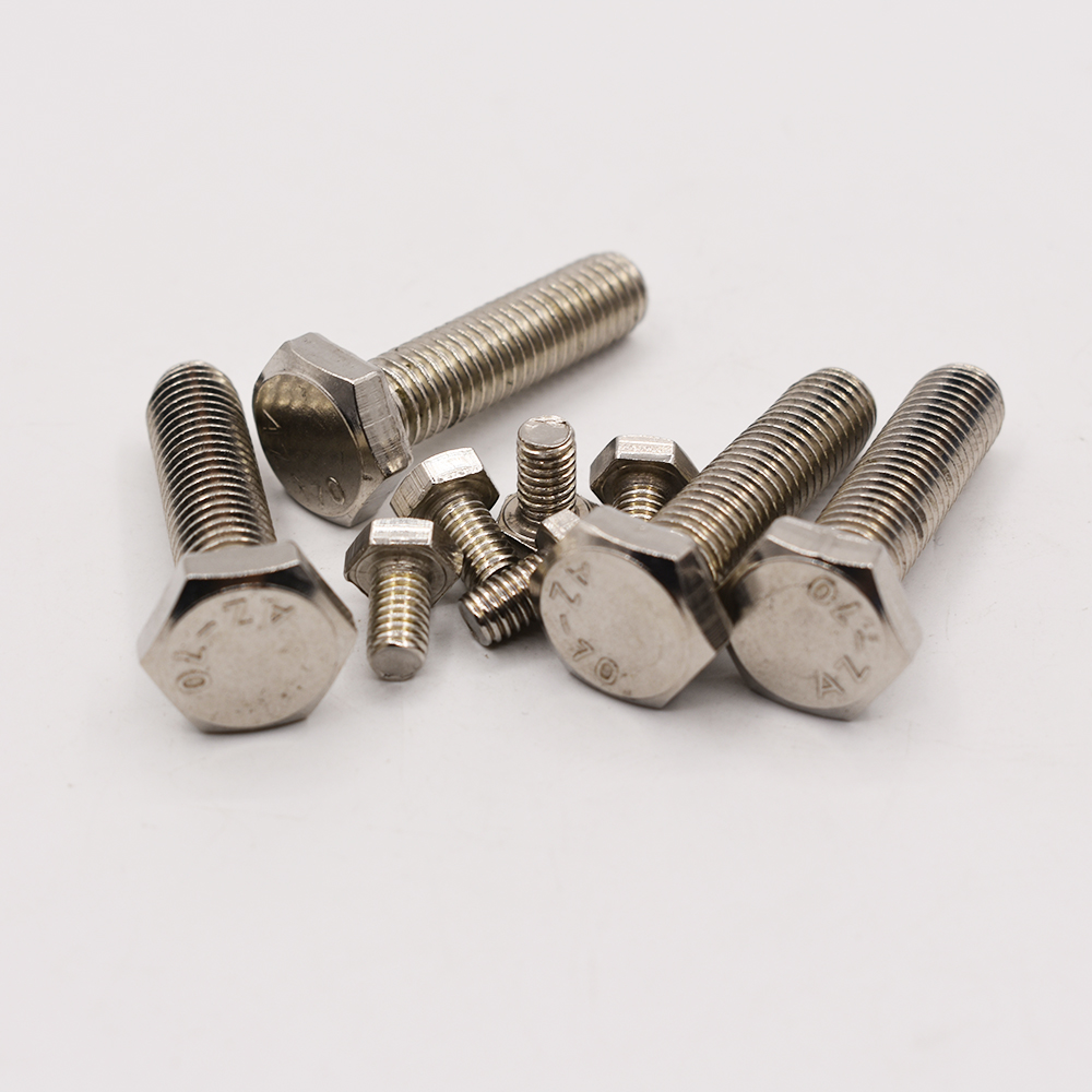 DIN933 304 Stainless Steel Screws <font><b>M4</b></font> Thread 8/10/12/14/16/20/25/<font><b>30</b></font>/35/40/45/50mm Thread Length External Hex Screws image