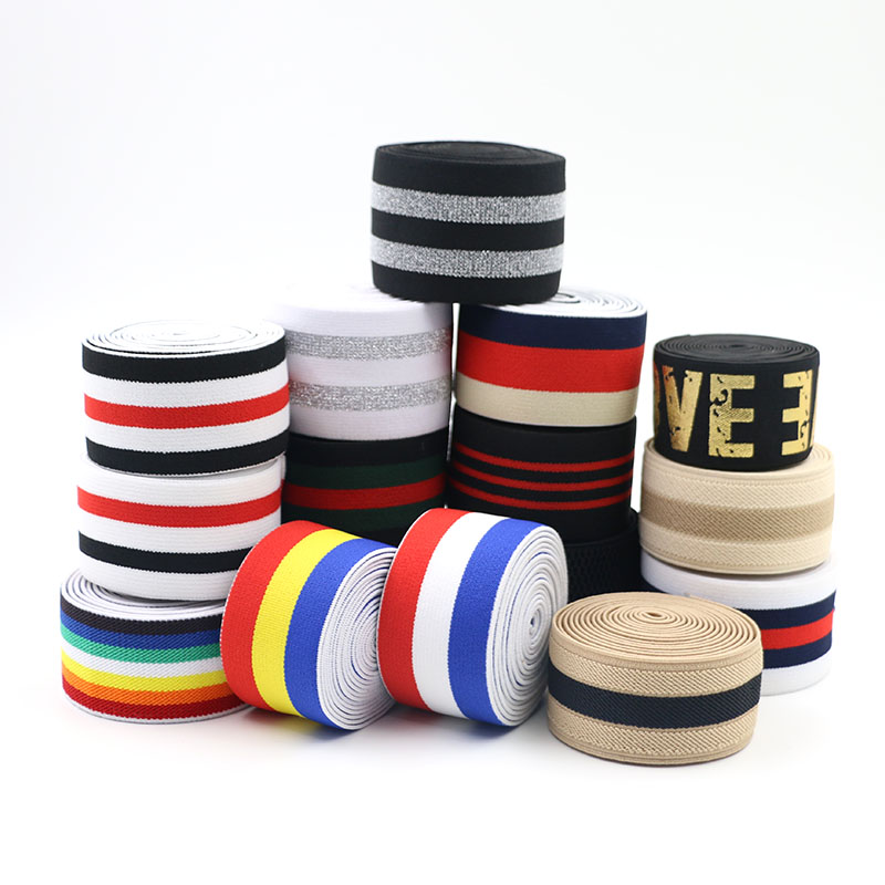Elastic Bands 2.5-5cm Elastic Ribbon Waistband Latex Webbing Band Bags Trousers Cloth DIY Sewing Accessories Rubber Band 1meter