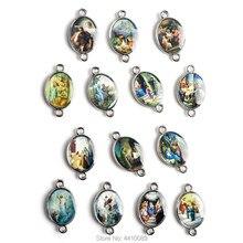 La alegría de los misterios de la Rosario Católico 20*12mm Color medalla 14 piezas un conjunto
