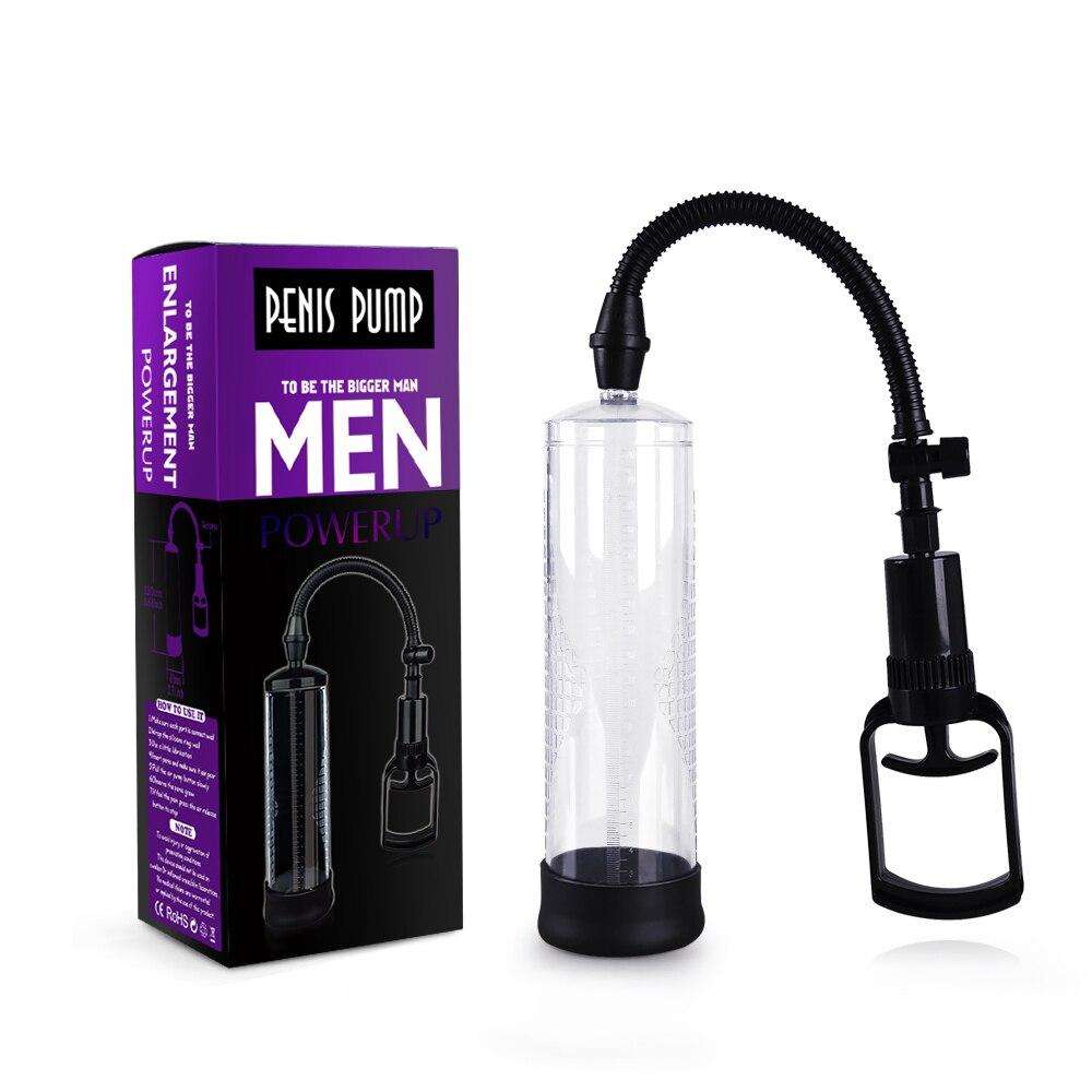 Cheap Penis Pump Penis Enlargement Vacuum Pumps Prolong Enhancer Penis Massager Exercise Enlarger Extender Sex Product for Men