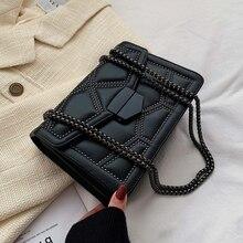 Маленькие сумки через плечо с заклепками и цепочкой для женщин, сумка через плечо, женские роскошные сумки