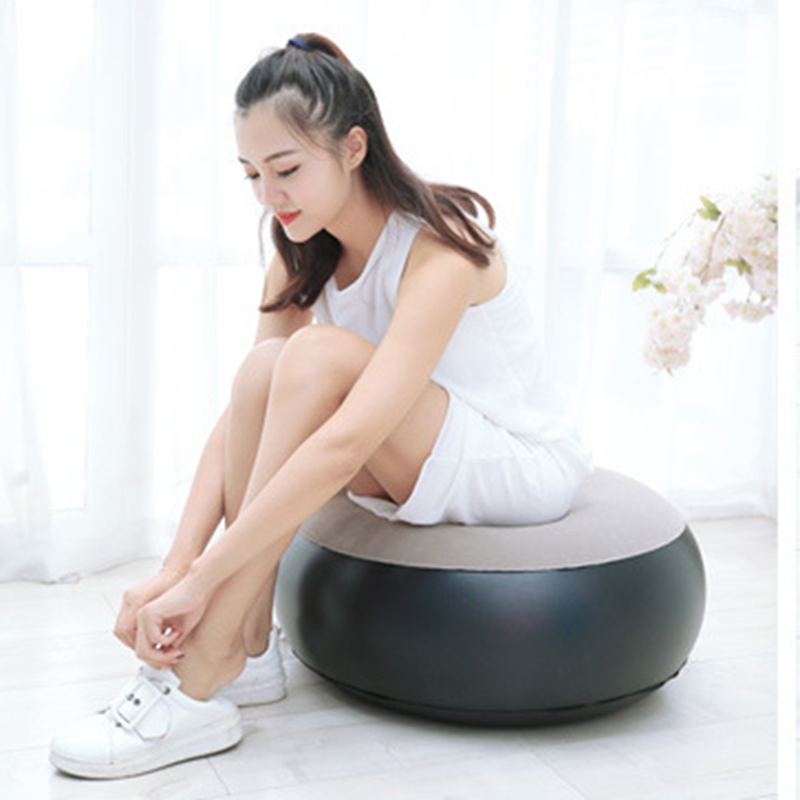 Adult Home Outdoor Inflatable Stool Foot Rest Pillow Blow UP Round Air Seat