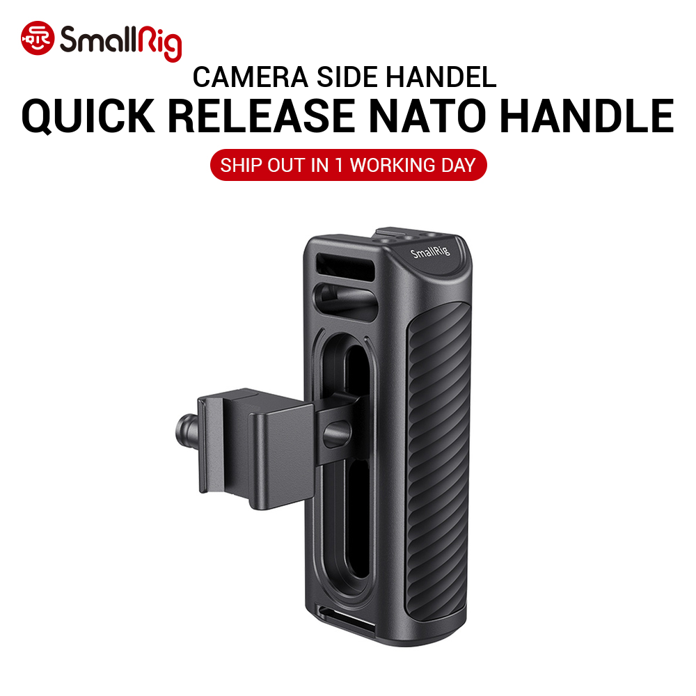 SmallRig DSLR Camera Quick Release Hand Grip Aluminum NATO Side Handle Compatible For SmallRig A7 IV , Z6 / Z7 Camera Cage 2427