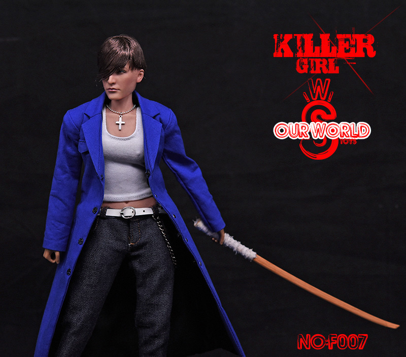 1/6 Scale 12 inches Full Set 1/6 Scale Female Killer Bad Girl Kendo FS007 figure Young and Dangerous girl Model Toy 1