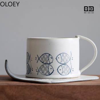 Japanese Coffee Mug Bone China Cup and Saucer Creative Ceramic White Coffee Mugs Porcelain Afternoon Tea Cup Milk Drinkware Tasa