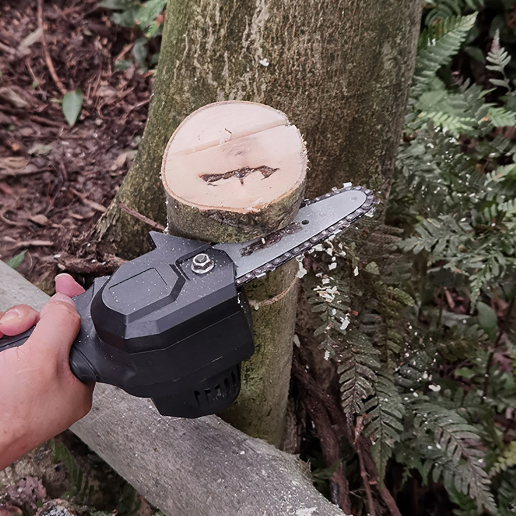 Tools : 4 Inch The Mini Electric Chainsaw Ever Battery-powered Wood Cutter Rechargeable Best Price 2021 New Hot Sale