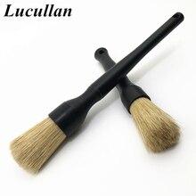 Lucullan Super Dense Natural Boar Premium Detailing Brushes For Car Dashboard Wheels Grille Emblem Cleaning
