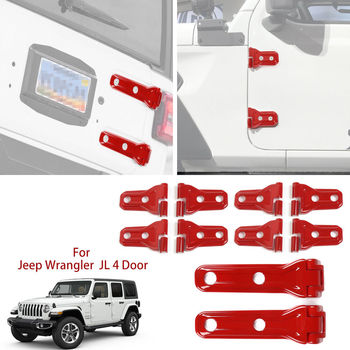 Para Jeep wrangler JL cubiertas de bisagra de puerta y tapas de bisagra de puerta trasera partes exteriores