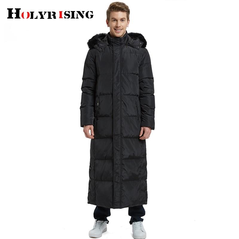 Holyrising New X jaqueta 90% de Pato branco para baixo casaco longo para baixo dos homens plus size Sobre o joelho Russa casaco de inverno para baixo 20C 18999 5 - 3