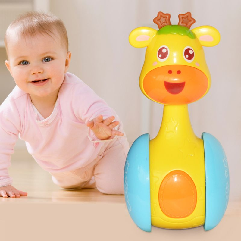 Baby Kids Rattles Gliding Tumbler Doll Toys Bell Music Learning Development Toy