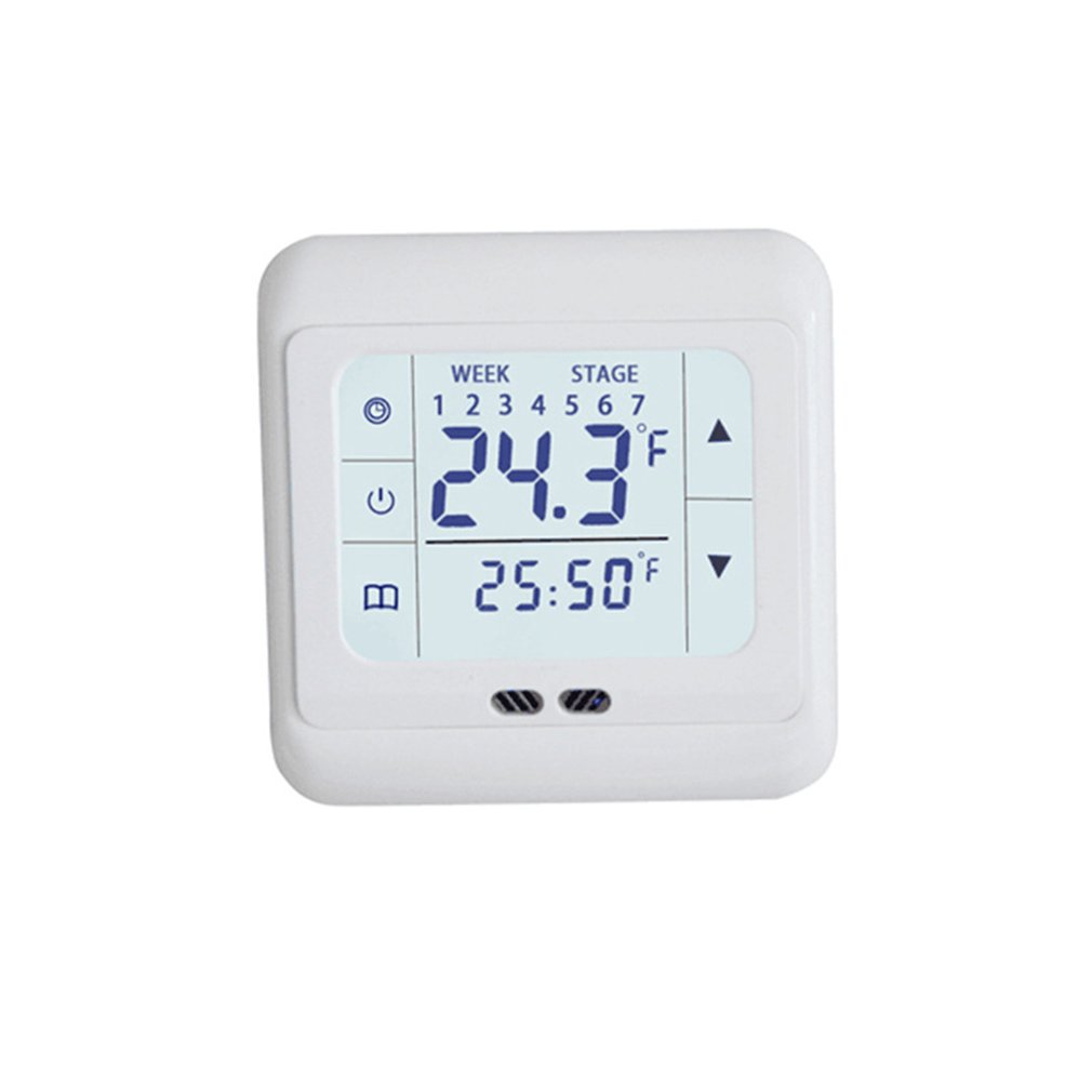 Thermoregulator Touch Screen Heating Thermostat For Warm Floor Electric Heating System Temperature Controller With Kid Lock