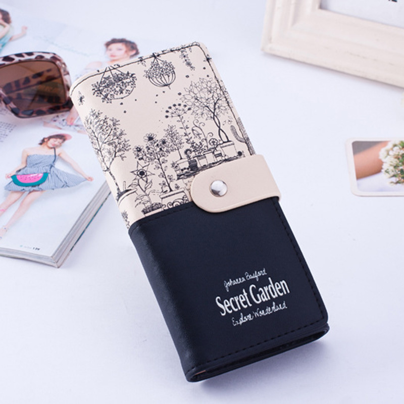 Women's Wallet Fashion Landscape Pattern PU Leather Large Capacity Wallet Ladies And Women's Card Bag Ladies Clutch Bag Holder