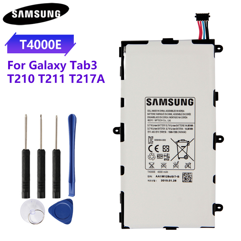 100% Original Tablet Battery <font><b>T4000E</b></font> T4000C T4000U For Samsung GALAXY Tab3 7.0 T210 T211 T2105 T217A Genuine Batteries 4000mAh image