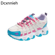 Dcxnnieh Autumn Sneakers Women Casual Vulcanized Shoes Female Fashion Lightweight Thick Bottom Breathable Platform Shoes Woman(China)