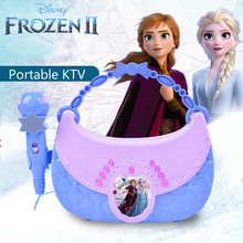 Disney Frozen 2 Musical Toys for Baby Children Portable KTV Music Toys Connect To Mobile Computer Princess Elsa Kids Microphone