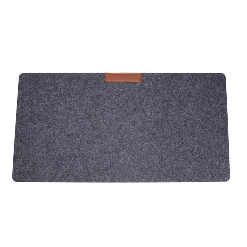 2mm/3mm Thickness Felt Computer Desk Mat Desktop Mouse Pad Keyboard Game Laptop Table Mat For Home Office Use