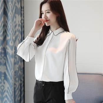 2020 Spring Women White Shirt Female Blouse Tops Long Sleeve Casual Turn-down Collar OL Style Women Loose Blouses women autumn casual simple all match loose blouse long sleeve plaid long turn down collar shirts