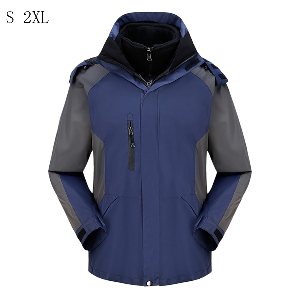 Solid waterproof thick loose Windbreaker windproof warm brand jacket classic   Trench   men's Long Sleeve Quality coats hooded