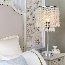 LukLoy светодиодный хрустальный Настольный светильник для спальни прикроватный свет Роскошные лампы для гостиной современный светодиодный декоративная настольная лампа светильники