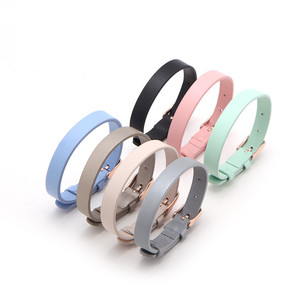Image 1 - Vinnie Design Jewelry Genuine Leather Wrap Bracelets with Rose Gold Buckle for Keeper Slide Charms Multicolor 10pcs/lot