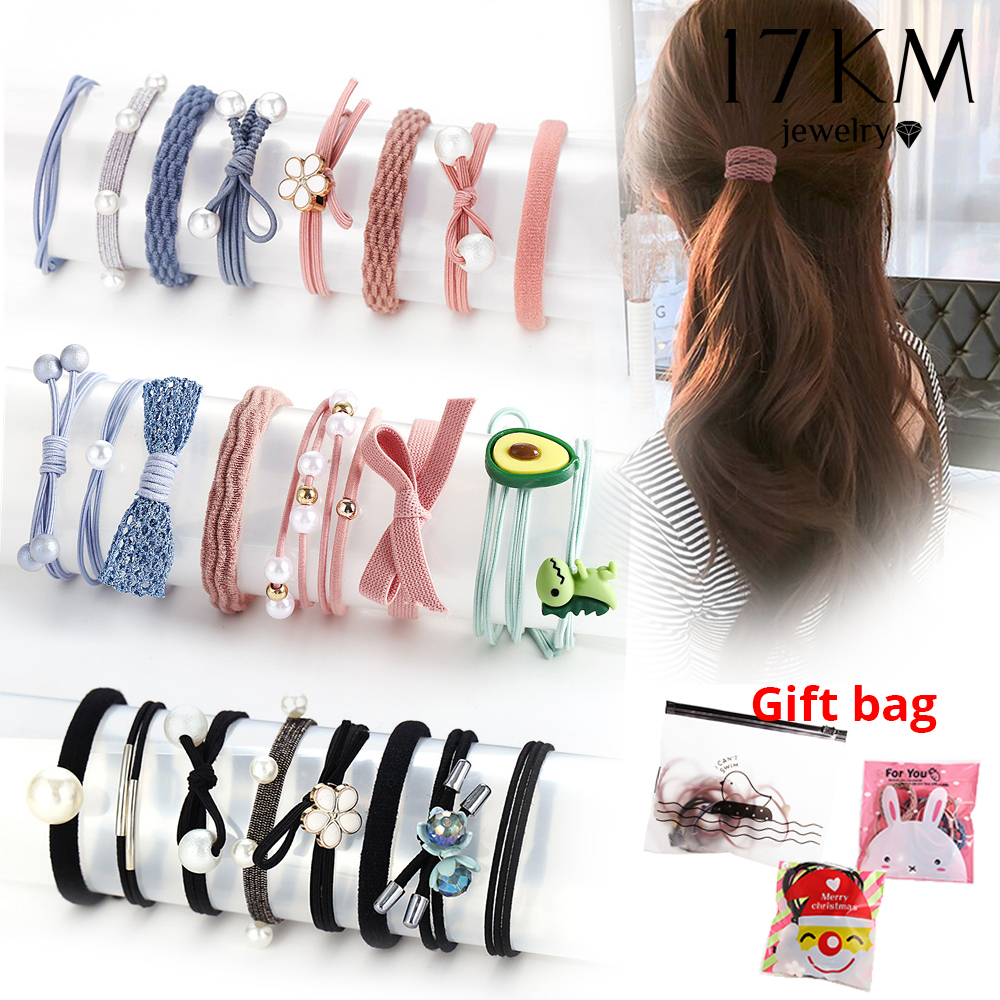 2020 New Pearls Knot Elastic Hair Band For Women Girls Fashion Star Round Cartoon Ponytail Kids Hair Bands Hair Jewelry
