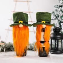 Wine-Bottle-Cover Table-Decor Christmas Xmas Beard Party Santa-Claus Artificial Dinner