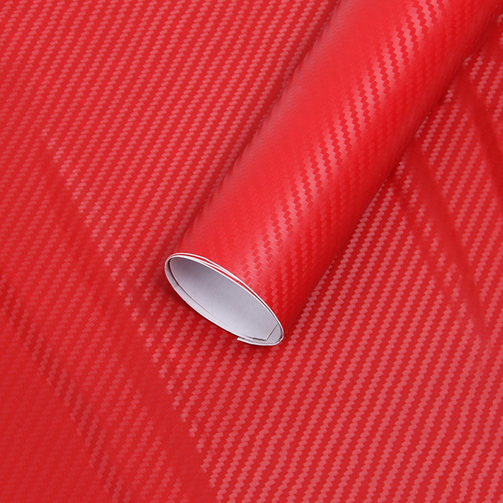 127 Cm * 10 Cm 3D Carbon Fiber Car Color Film Body Sticker Car Decoration Stickers (10 Colors Optional)  Carbon Fiber Vinyl Wrap