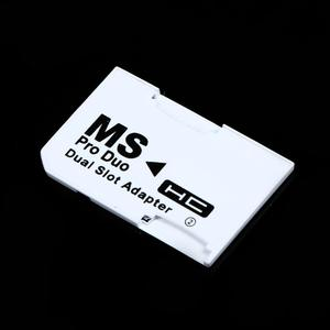 Image 4 - Micro slot dupla para sd sdhc tf, para cartão de memória vara ms pro, conjunto de adaptador de cartão duplo branco para cartão do psp