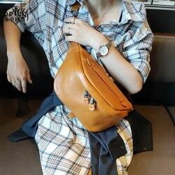 BRIGGS Gürtel Tasche Taille Packs Für Frauen Designer Marke Luxus Tasche Qualität Frauen Aus Echtem leder Tasche Fanny Pack Nachricht Taschen frauen