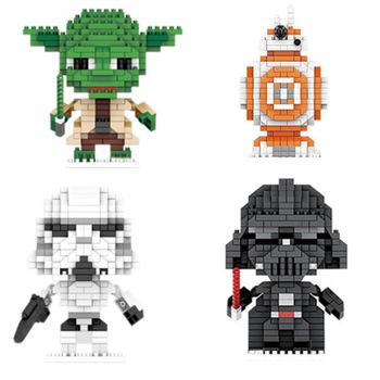 Mini klocki Hot Star Wars Vader Master Yoda figurki akcji z anime zabawki mikro klocki klocki edukacyjne zabawki dla Chi tanie i dobre opinie LISM Unisex 3 lat BLOCKS Not eat Z tworzywa sztucznego Samozamykajcy cegły