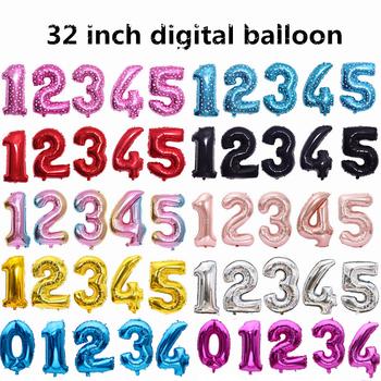 32 cal średniej 0-9 folia aluminiowa balony cyfry birthday party dekoracja rocznicowa złota folia balony tanie i dobre opinie FEMAILY CN (pochodzenie) Numer Ślub i Zaręczyny przyjęcie urodzinowe Na Dzień Dziecka New Year Rocznica Ballon 1 pc