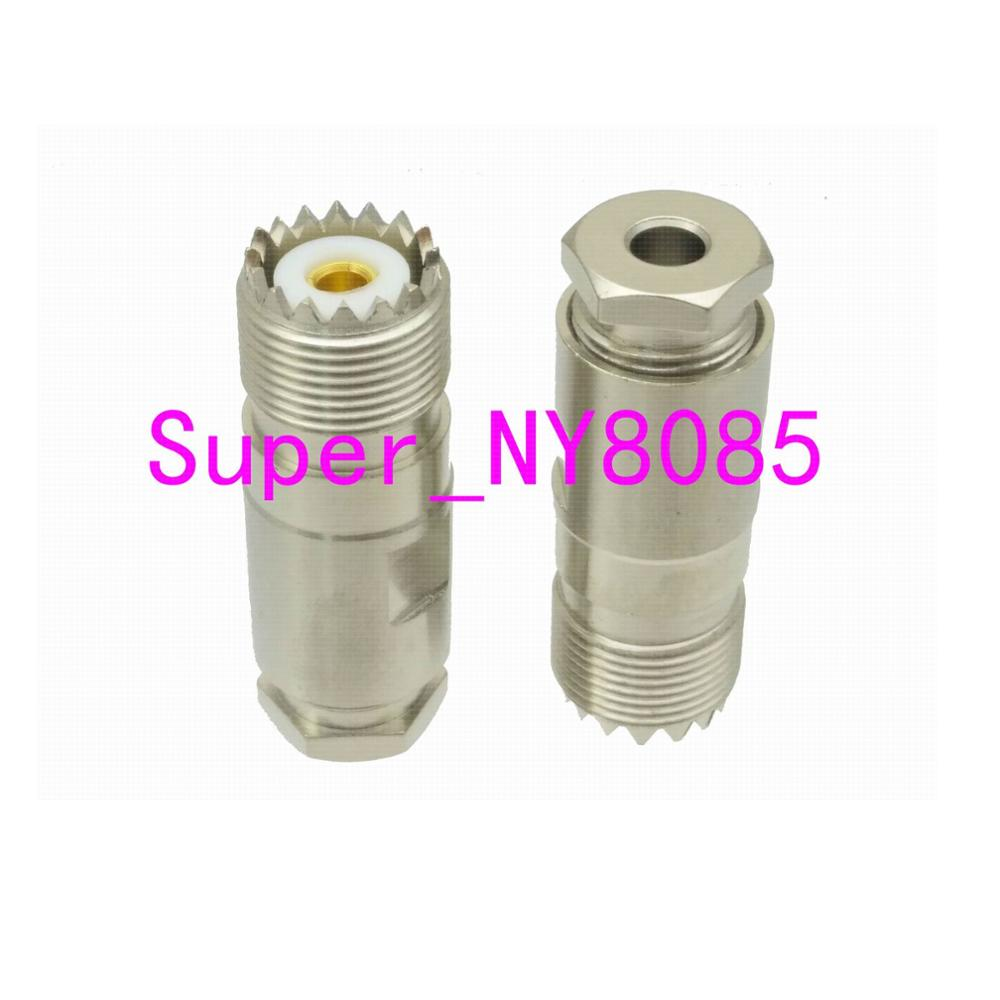 UHF SO239 Female Jack Clamp RG58 RG142 LMR195 RG400 Cable RF Coaxial Connector